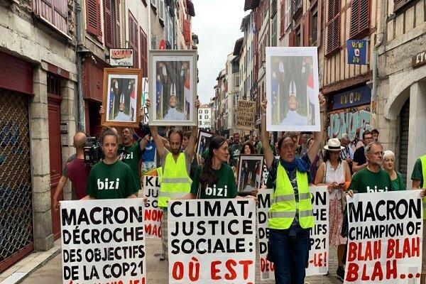 شروع اعتراضات مردم فرانسه در شهرهای اطراف محل برگزاری اجلاس جی7